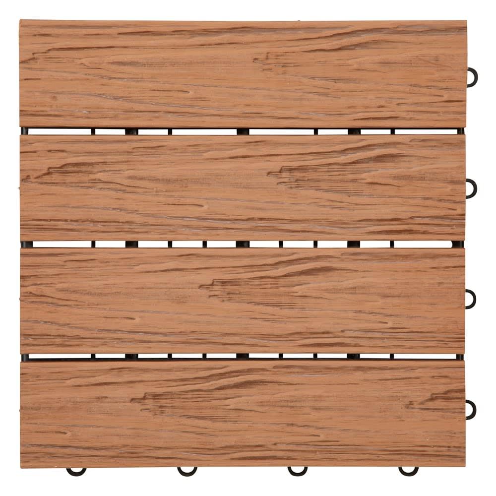 人工木タイルマット9枚セット (イ)ナチュラルブラウン