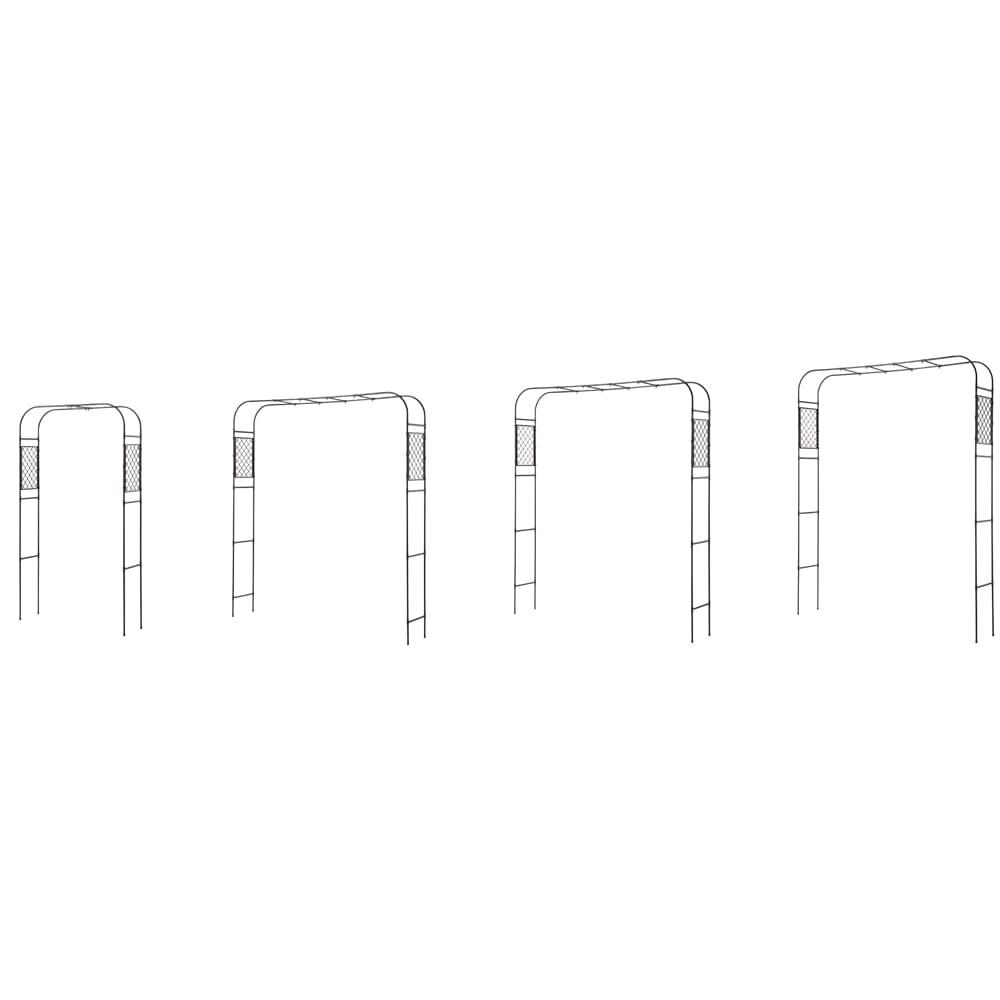 幅と高さの調節ができるアーチ 高さは4段階調節可能。