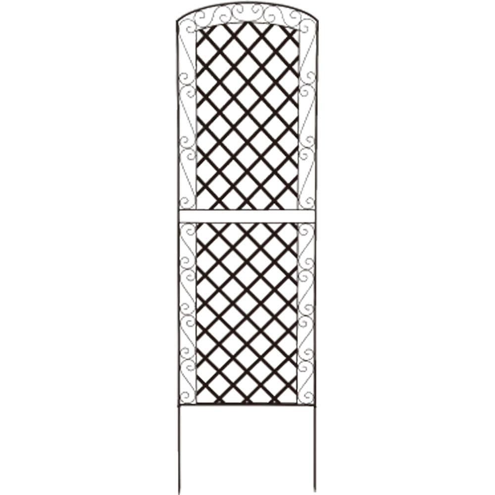 アイアンラティス柄フェンス 高さ216cm 2枚組