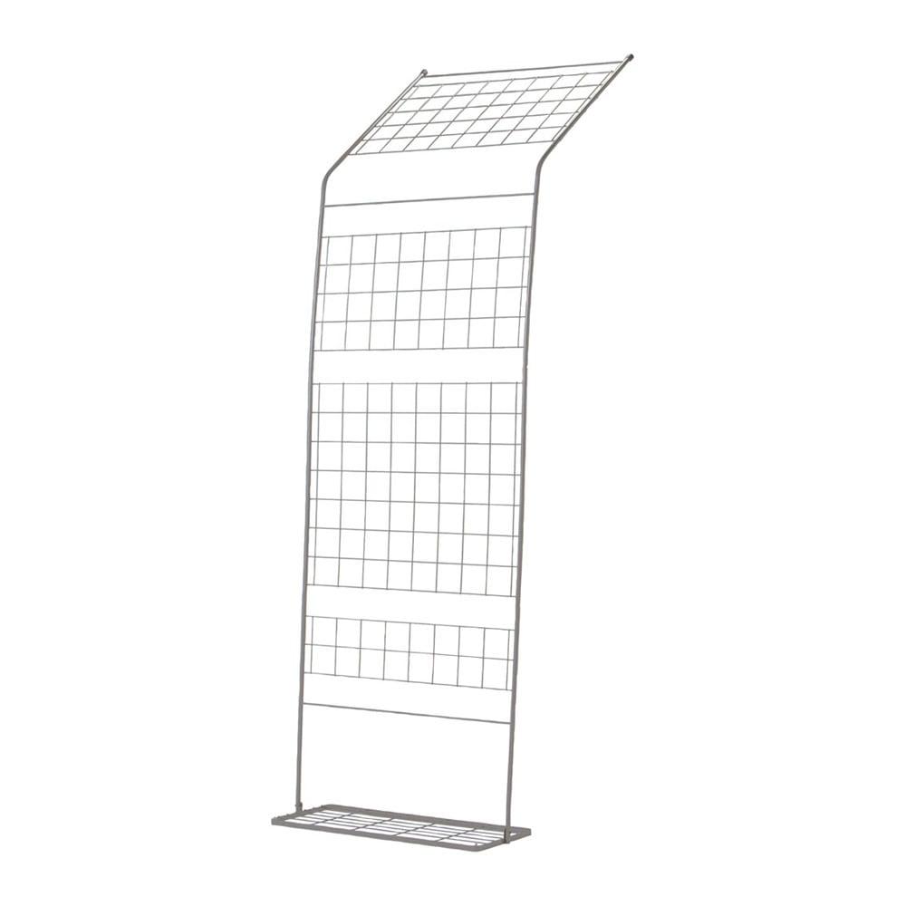 アイアングリーンカーテン〈奥行広々ハイタイプ〉 プランター台付き お得な2枚セット 有効内寸 最大高さ2.45~2.6m 奥行0.83~1.03m 設置する場所に合わせて傾斜が変えられます。