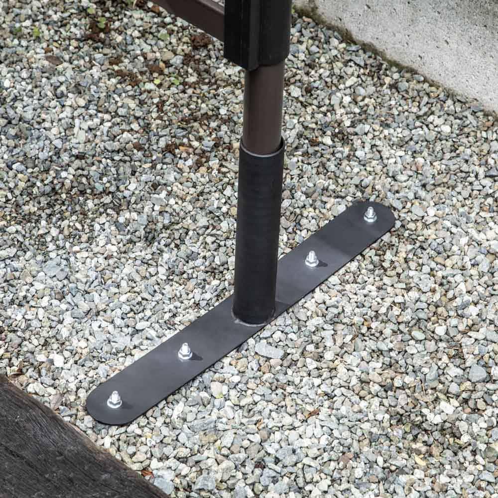 目隠しガーデニングフェンス コンクリート設置用パーツ 2枚用(脚4本分)