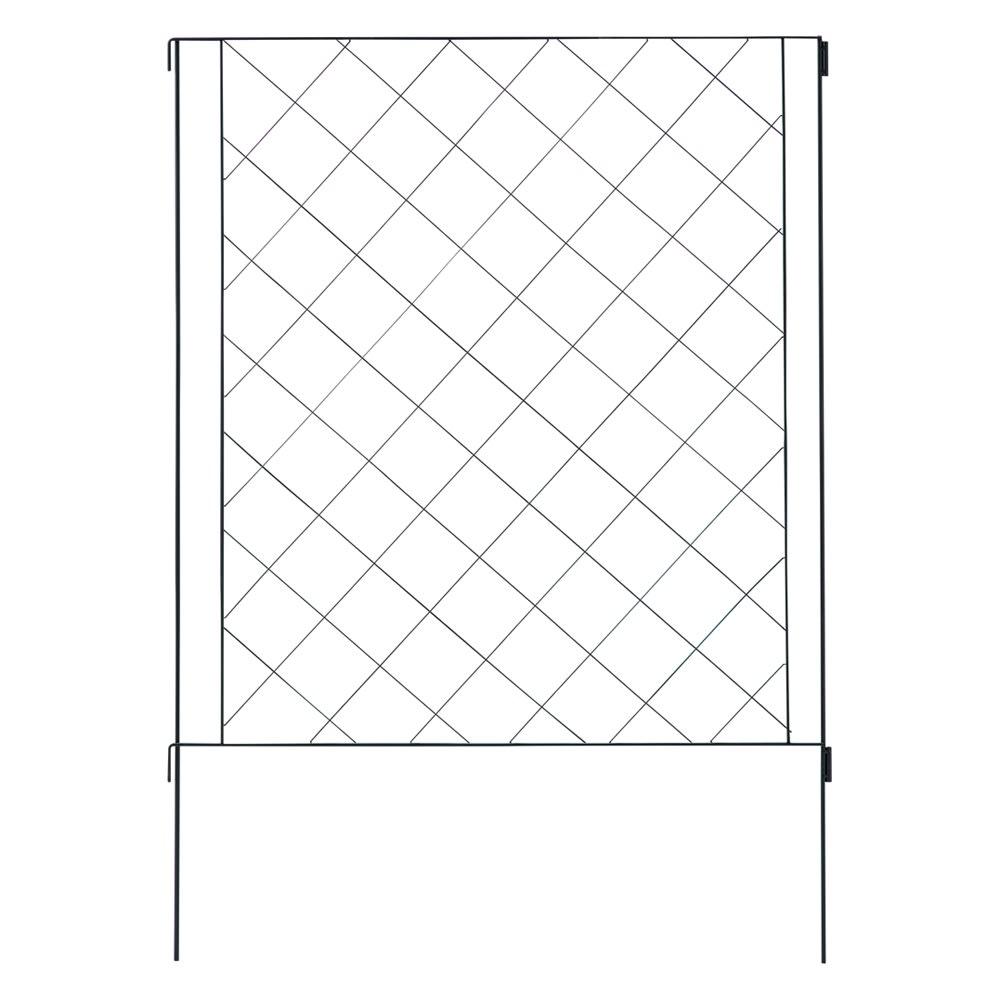 境界線に!ガーデンフェンス 6枚セット (ア)ブラック