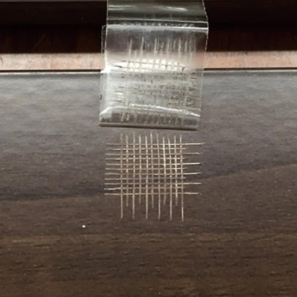 木目調アルミデッキ縁台&ステップ 単品 デッキ縁台150×36cm ~キズへの強さを確認する試験をクリア!~ b.塗膜はく離耐性試験もクリア。