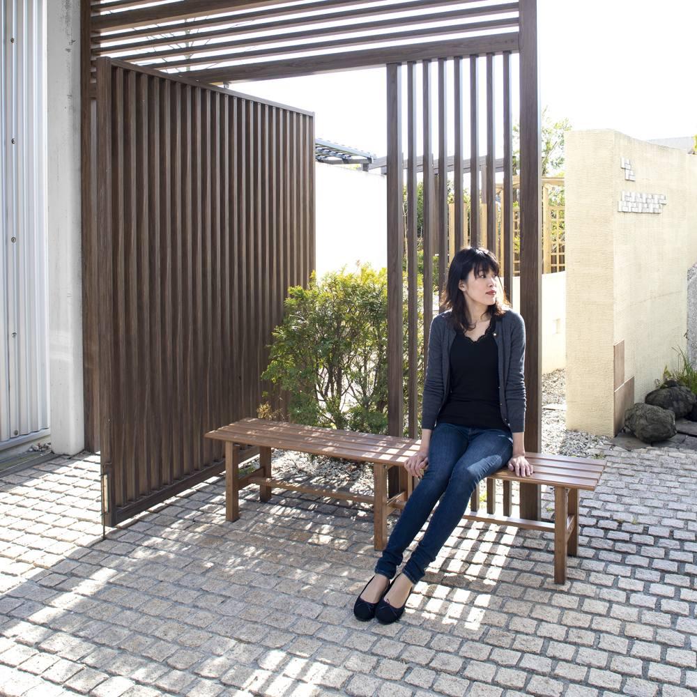 木目調アルミデッキ縁台&ステップ 単品 デッキ縁台150×36cm (イ)ブラウン ※画像はサイズが異なります。