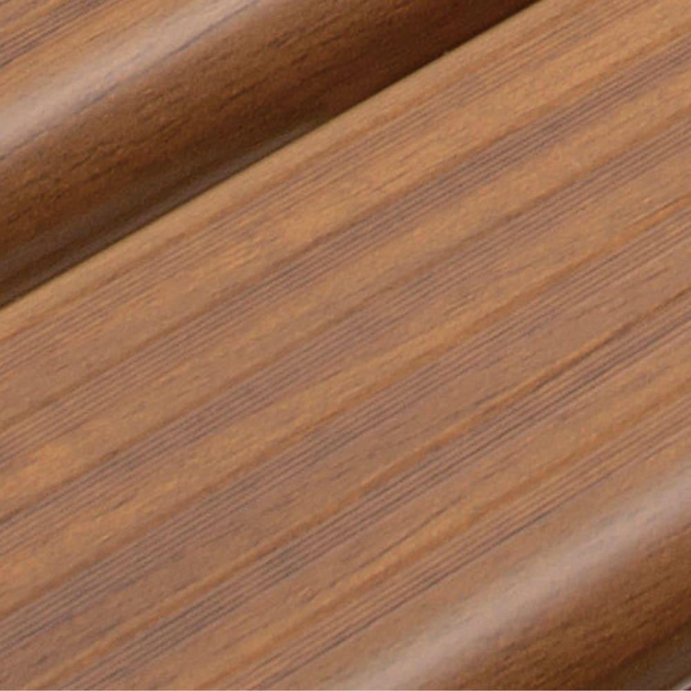 木目調アルミデッキ縁台&ステップ 単品 デッキ縁台180×36cm (イ)ブラウン