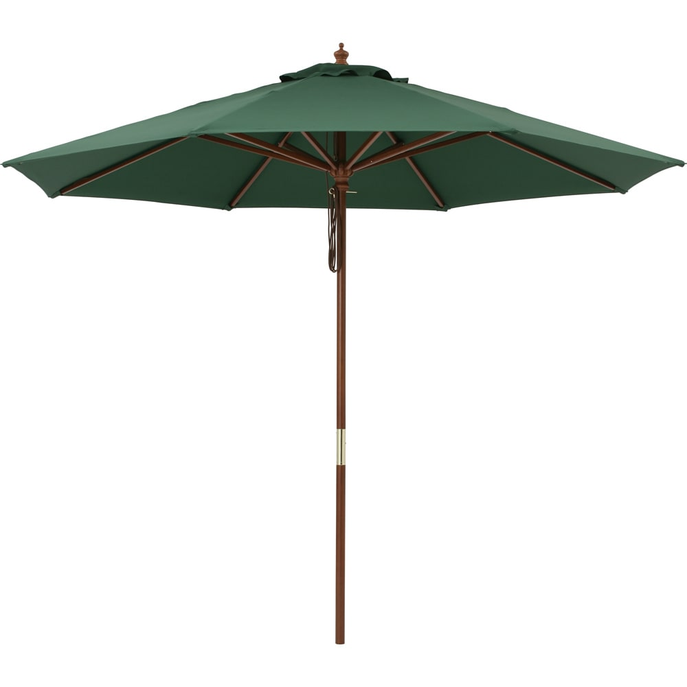 ウッド支柱パラソル パラソル径270cm (ウ)グリーン