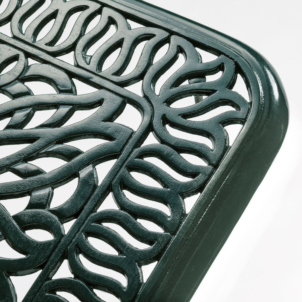 グラシュプレミアムシリーズ ラウンド5点セット(ラウンドテーブル+チェア×4) 目をみはるほど繊細な装飾模様。