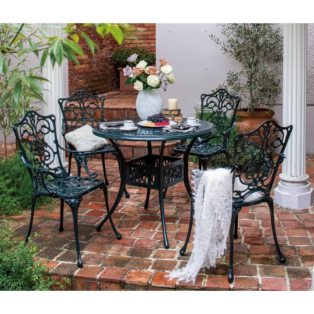 ガーデニング フラワー ガーデニング用品 エクステリア ガーデンテーブル グラシュプレミアムシリーズ ラウンドテーブル90 G92803