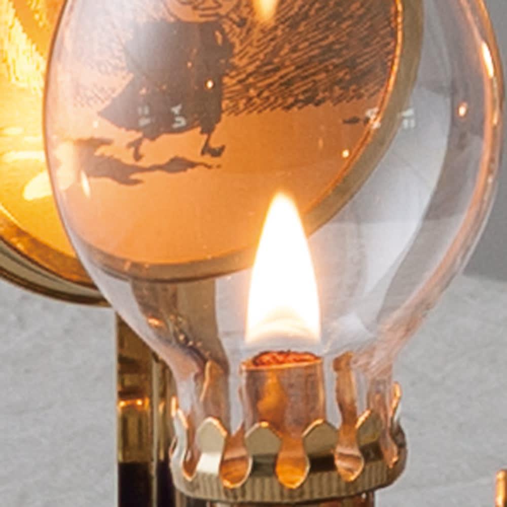 ムーミンオイルランプ オイル付き M 本物の炎はLEDとは違った魅力。