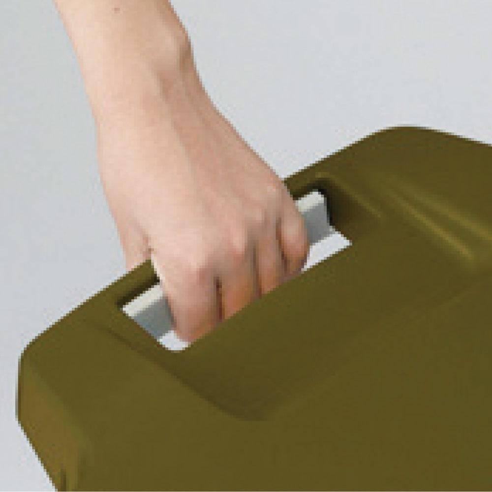 キャスター付きダストボックス 45L c.ロックできるフタでカラス対策。