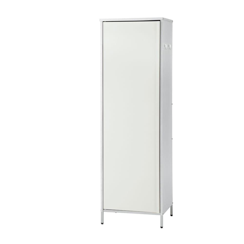 ガルバ製物置スリムタイプ 幅52.5高さ168cm ホワイト