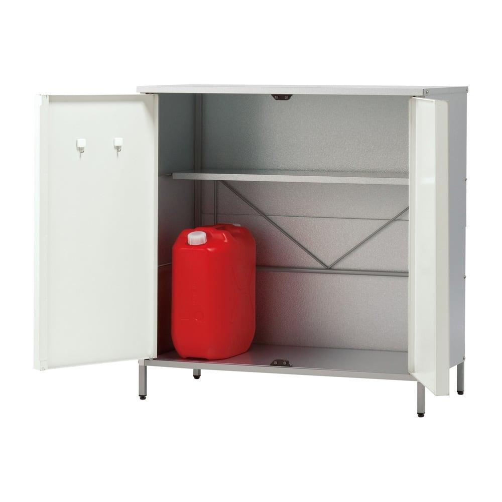 ガルバ製物置 レギュラータイプ 幅91.5高さ95cm (イ)ホワイト