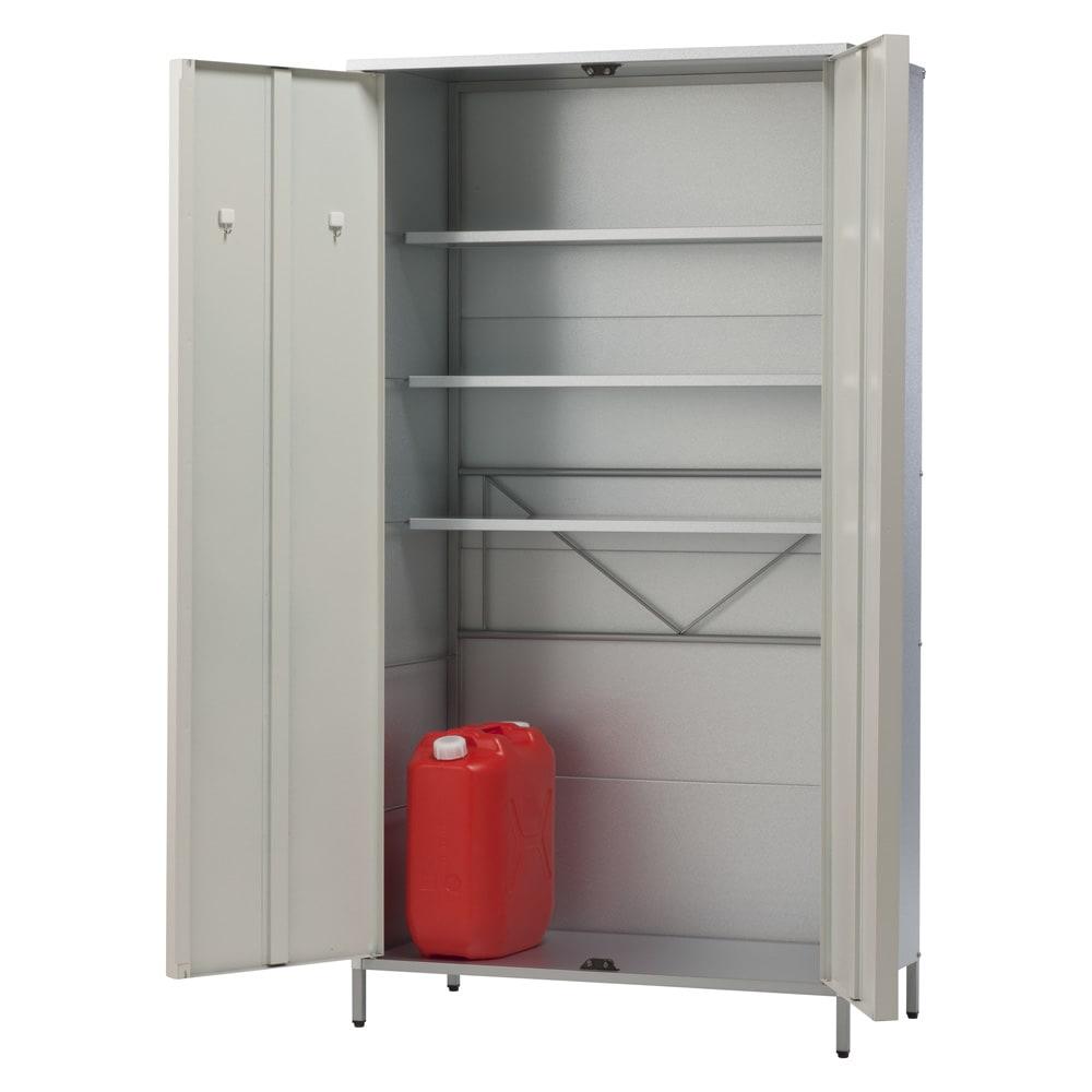ガルバ製物置 レギュラータイプ 幅91.5高さ168cm (イ)ホワイト