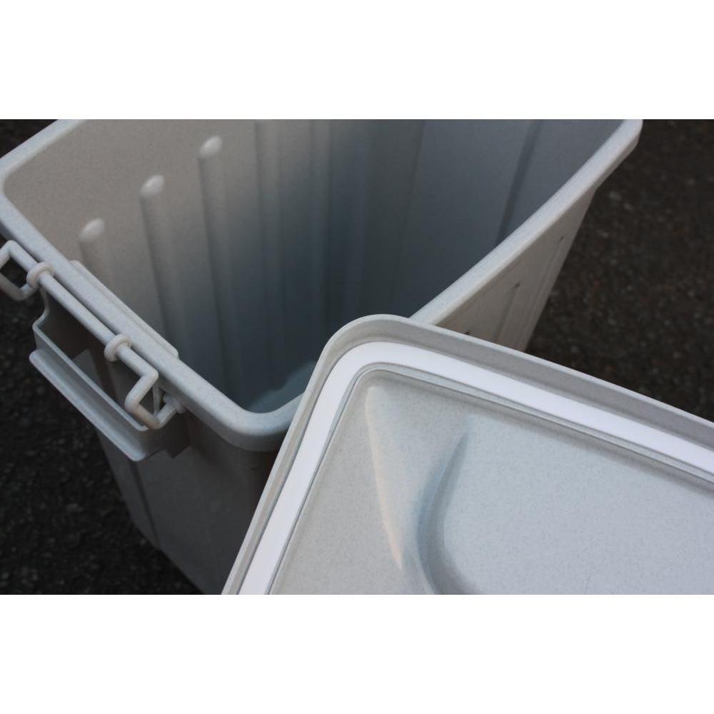 ガルバ製ゴミ保管庫 スリムタイプ 幅100奥行37cmペール付き ペールのフタ内側には、臭いのもれを防ぐパッキン付き。
