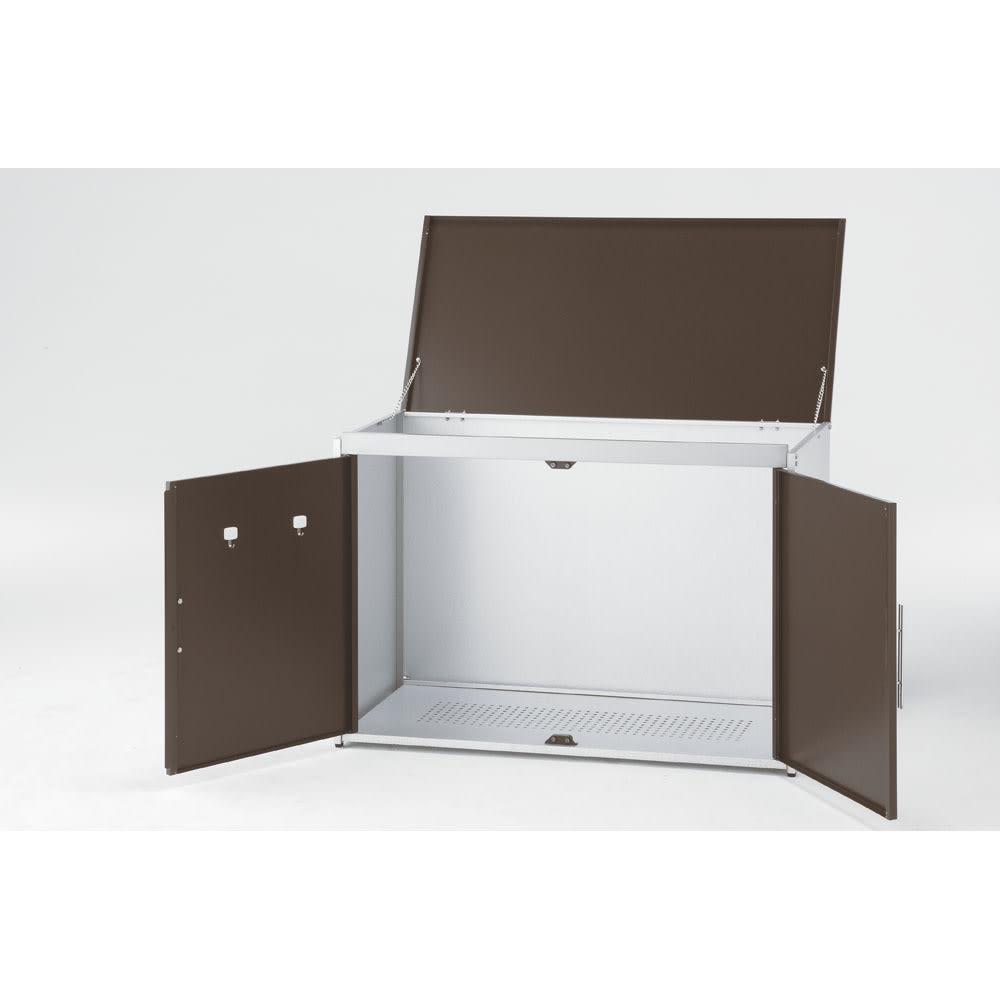 ガルバ製2面開閉ダスト収納庫 ※写真は幅100cmタイプです。