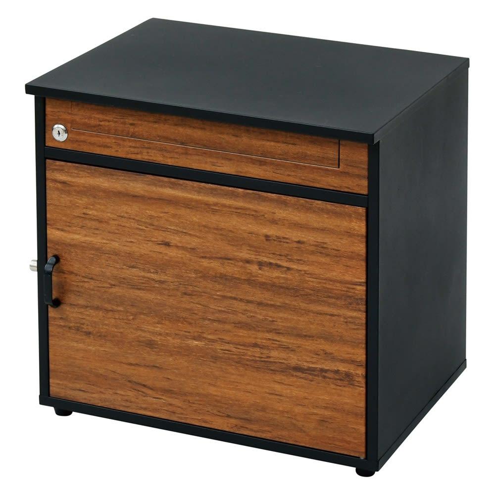 木目調宅配BOX 幅48.5奥行49高さ40.5cm