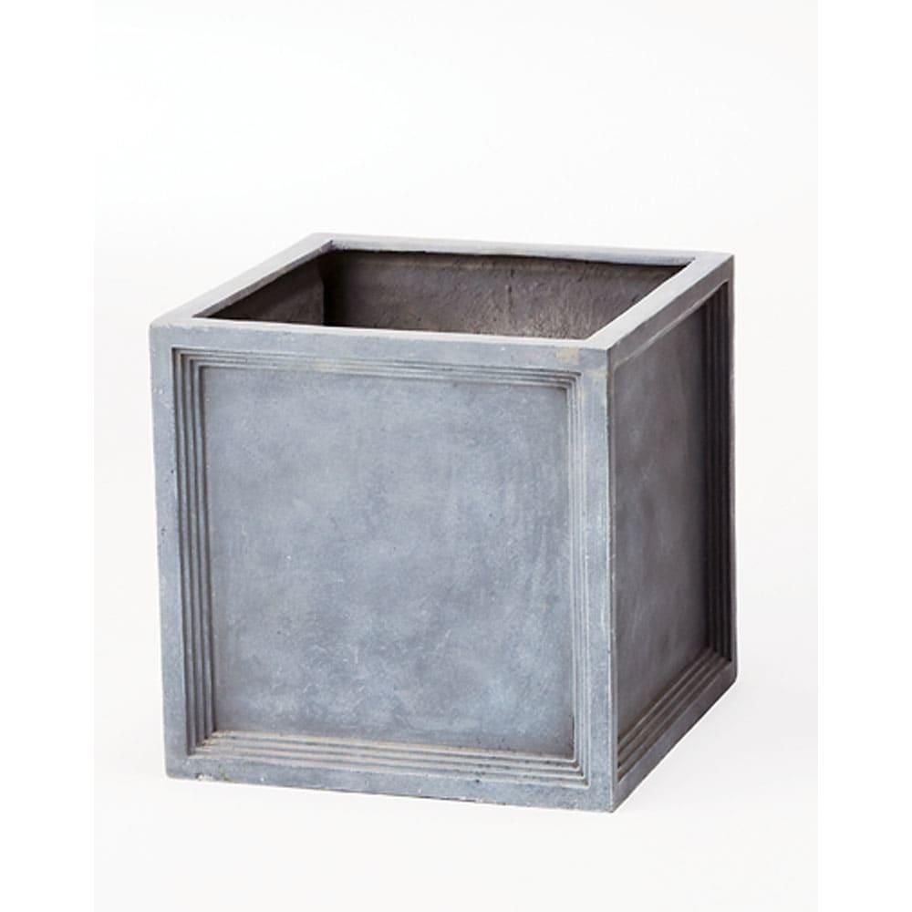 ガーデニング フラワー ガーデニング用品 エクステリア プランター 鉢 フラワースタンド ブリティッシュ調FRPプランター キューブ S G90305