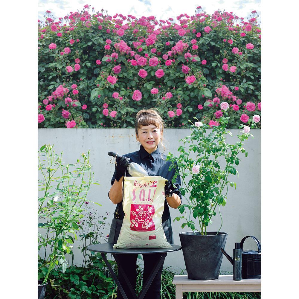 ディノスオリジナル培養土 バイオゴールド×吉谷桂子×dinos バイオゴールドローズソイル15L 土・肥料