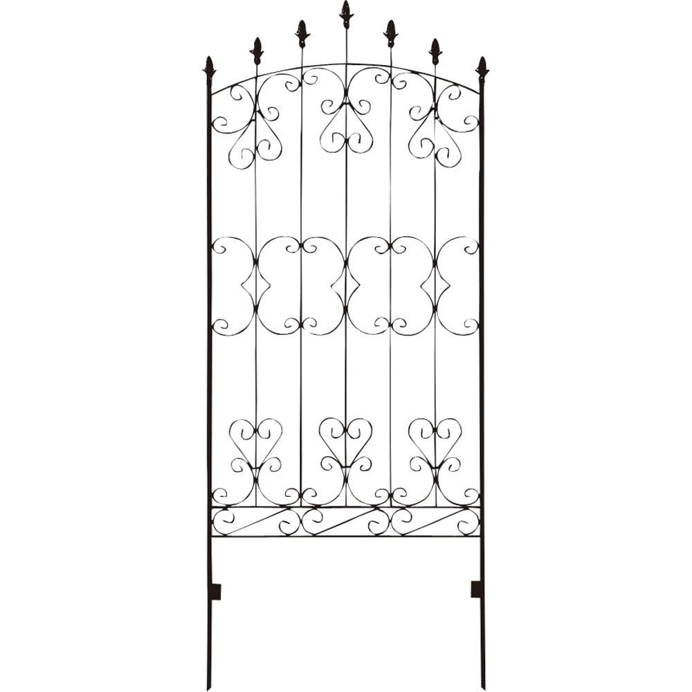 シャトーフェンス 高さ150cm 4枚組 (ア)ダークブラウン