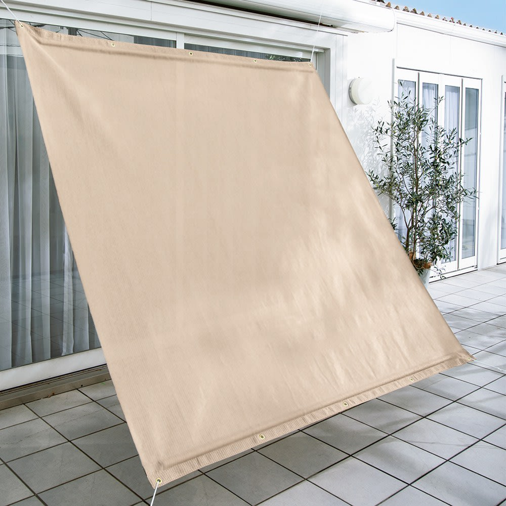 サマーオーニング タープ 約200×200cm (ア)アーバングレー  UVカット率…約89%