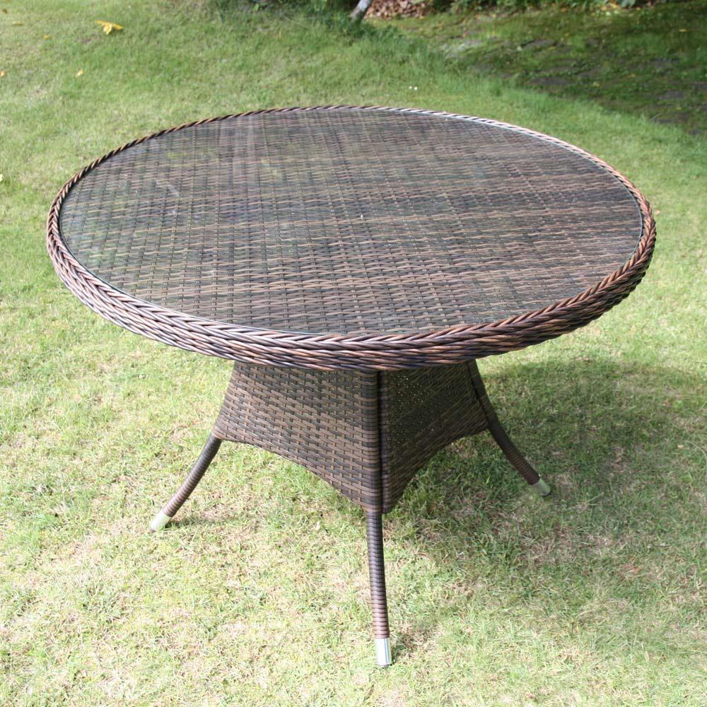 ガーデニング フラワー ガーデニング用品 エクステリア ガーデンテーブル ガラス&ウィッカーシリーズ ラウンド大テーブル G92406