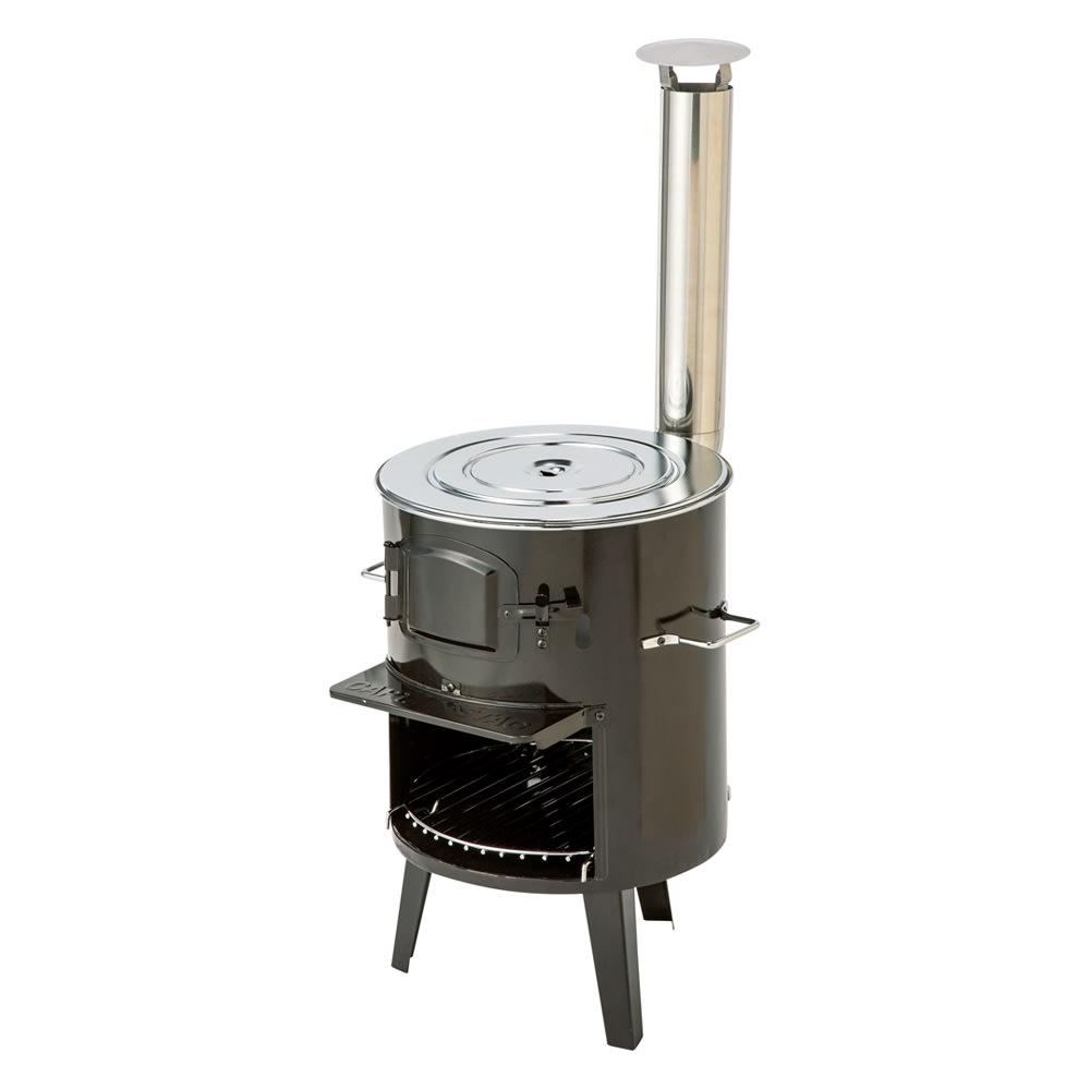 薪&炭が使える KAMADO(かまど) 寸胴なデザインに3本足がどこか可愛い煙突ストーブ。