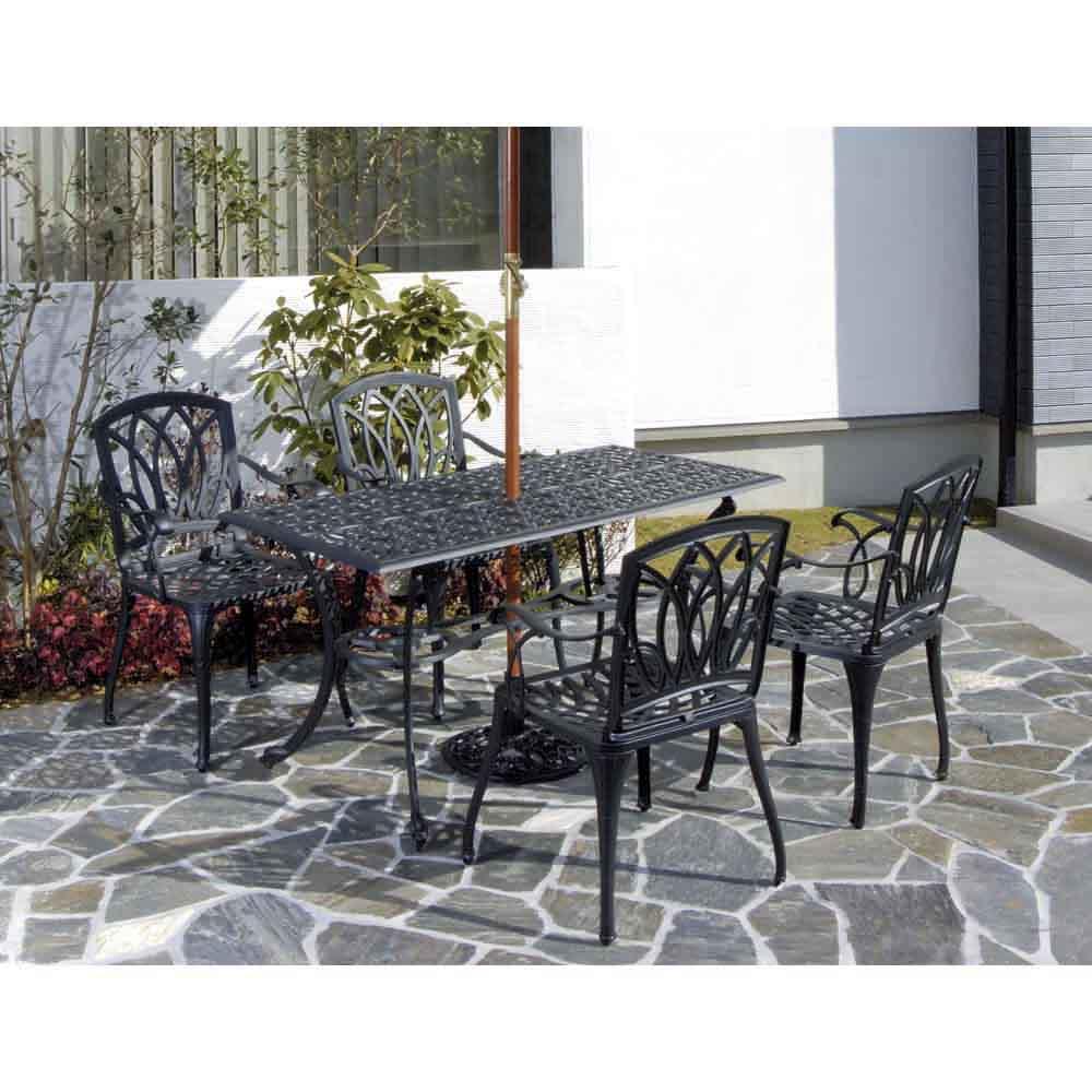 g-STYLE G?Style テーブル&チェア 5点セット ガーデンファニチャーセット