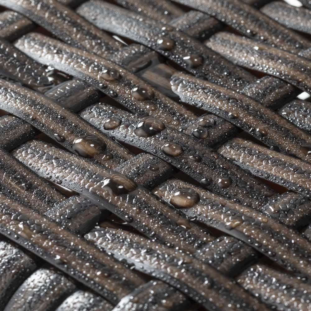 ファーストクラスファニチャー 長方形5点セット 水に強いウィッカー素材。