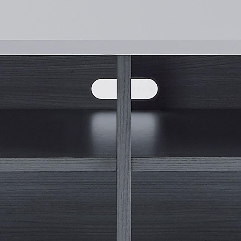 Leliel/レリエル ハイグロススライドボード 幅158.5高さ60cm 配線が通せるコード穴付きで、家電収納にも。