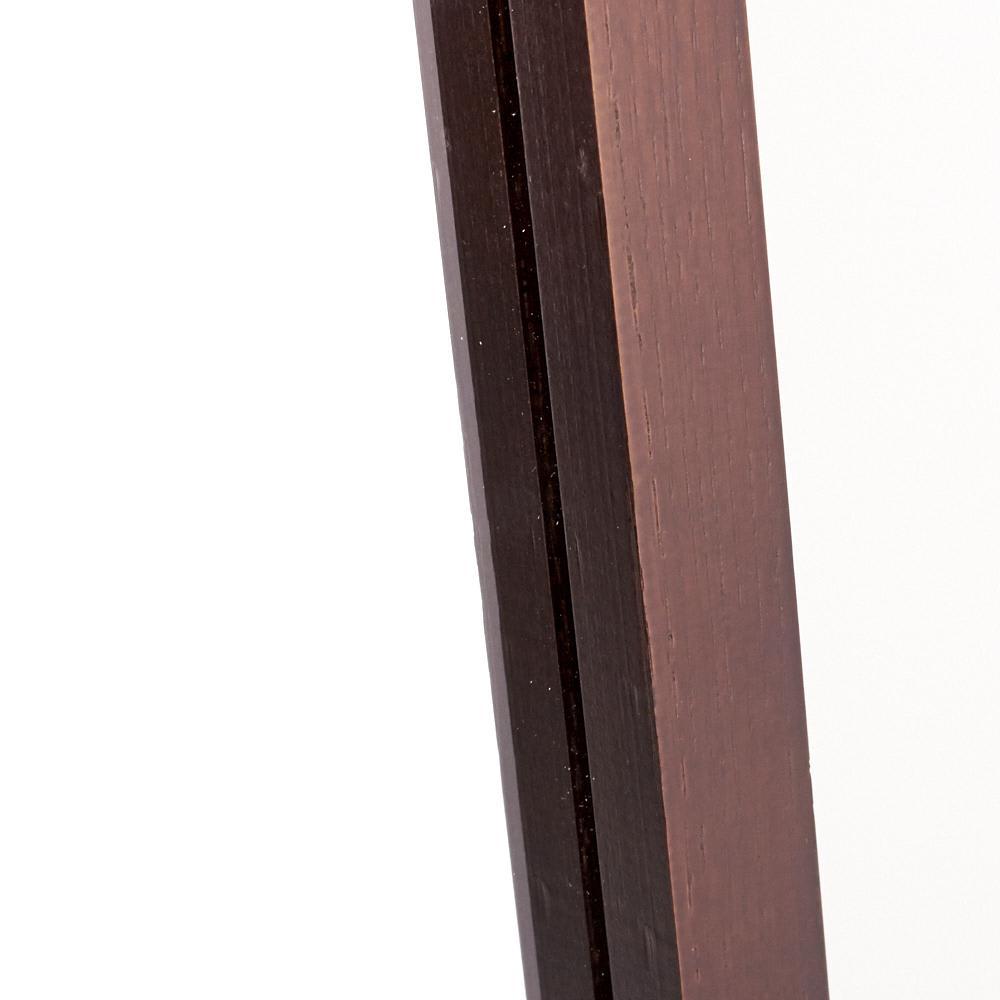 Incery(インサリー) 天然木製 スリムミラー 幅32cm ダークブラウン ぬくもりあふれる天然木。