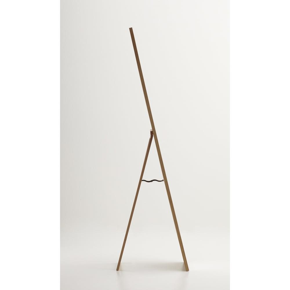 Incery(インサリー) 天然木製 スリムミラー 幅32cm ナチュラル ミラーを【横】からみた様子です。