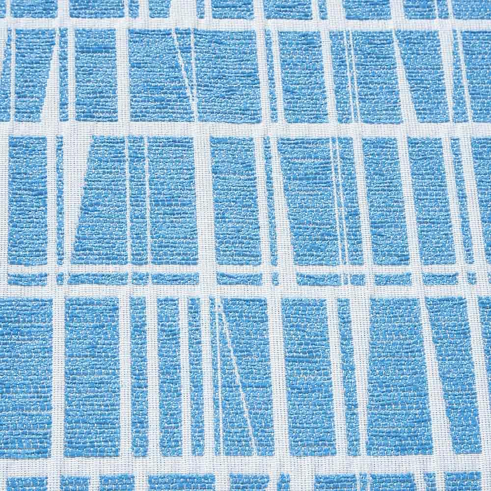 フィンレイソン ジャガード織チェアクッション 丸型・径36cm (エ)コロナ・ミントブルー