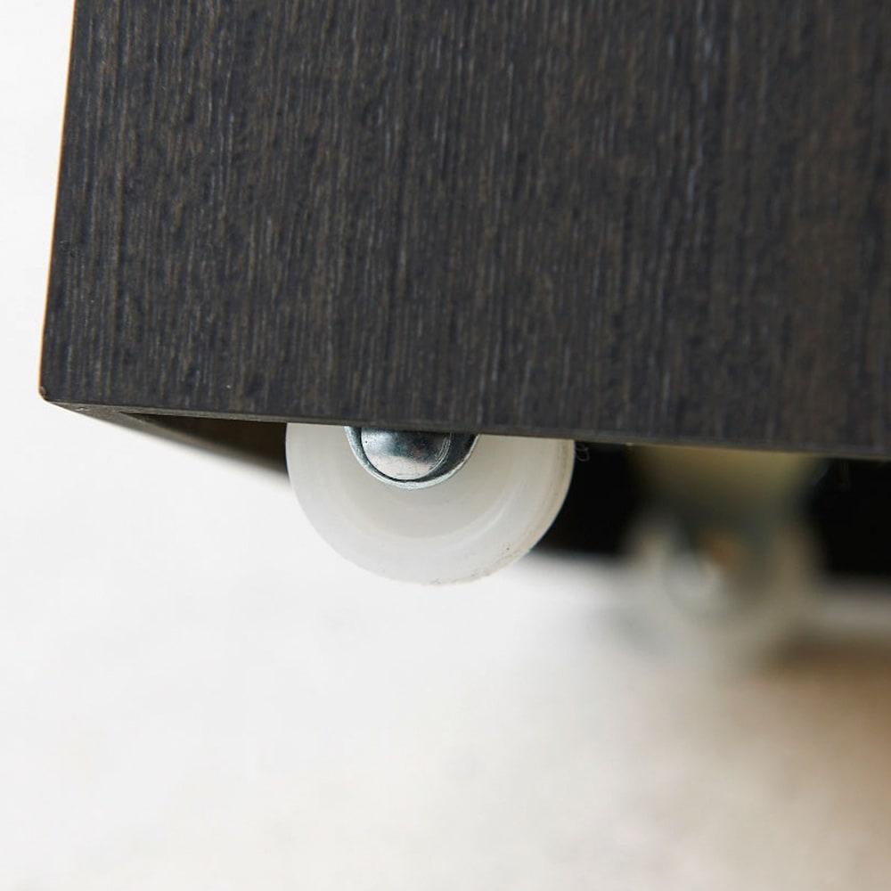 橋本達之助工芸/紀州檜天然木リビングダストボックス容量45L(2分別対応可能) キャスターが見えにくいミニマルデザイン。