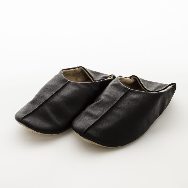 バブーシュ 同色同サイズ 2足組 ブラック