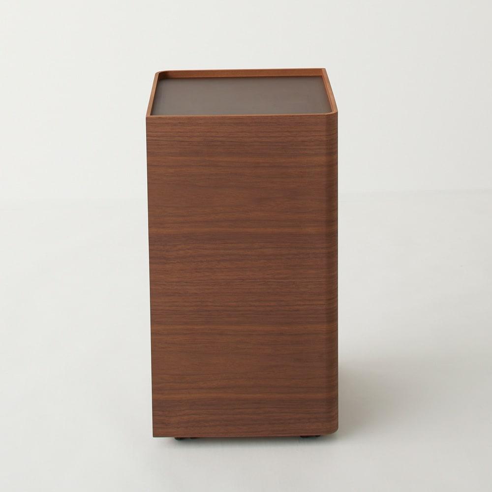 Oluo/オルオ トイレットペーパーワゴン ウォルナット クルッと回せば収納物もすっきり隠せる。