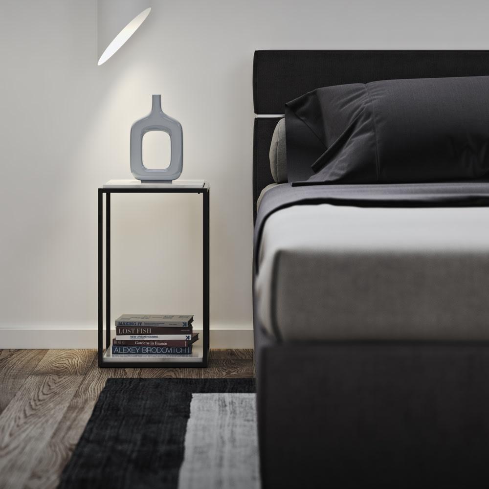 Forrest/フォレスト 大理石スモールサイドテーブル ランプなどを置く、ベッドサイドテーブルにも。