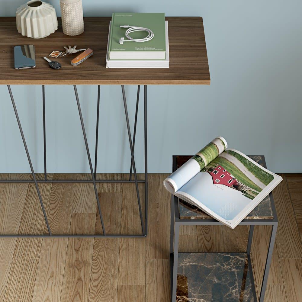 Forrest/フォレスト 大理石スモールサイドテーブル エントランスでお客様のバッグテーブルとしても。