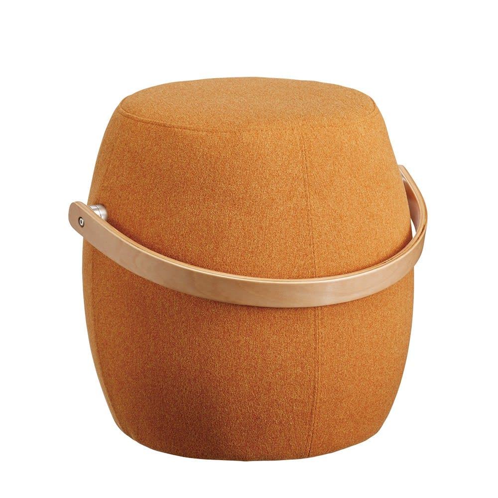 Meteor/ミーティア 木製ハンドル付きスツール (イ)オレンジ