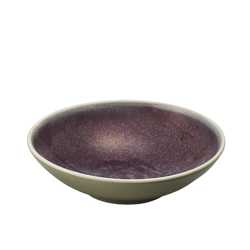 Jars/ジャス スーププレート TOURRON (イ)パープル 裏面のホワイトがアクセントに。和の食材にもよく合います。
