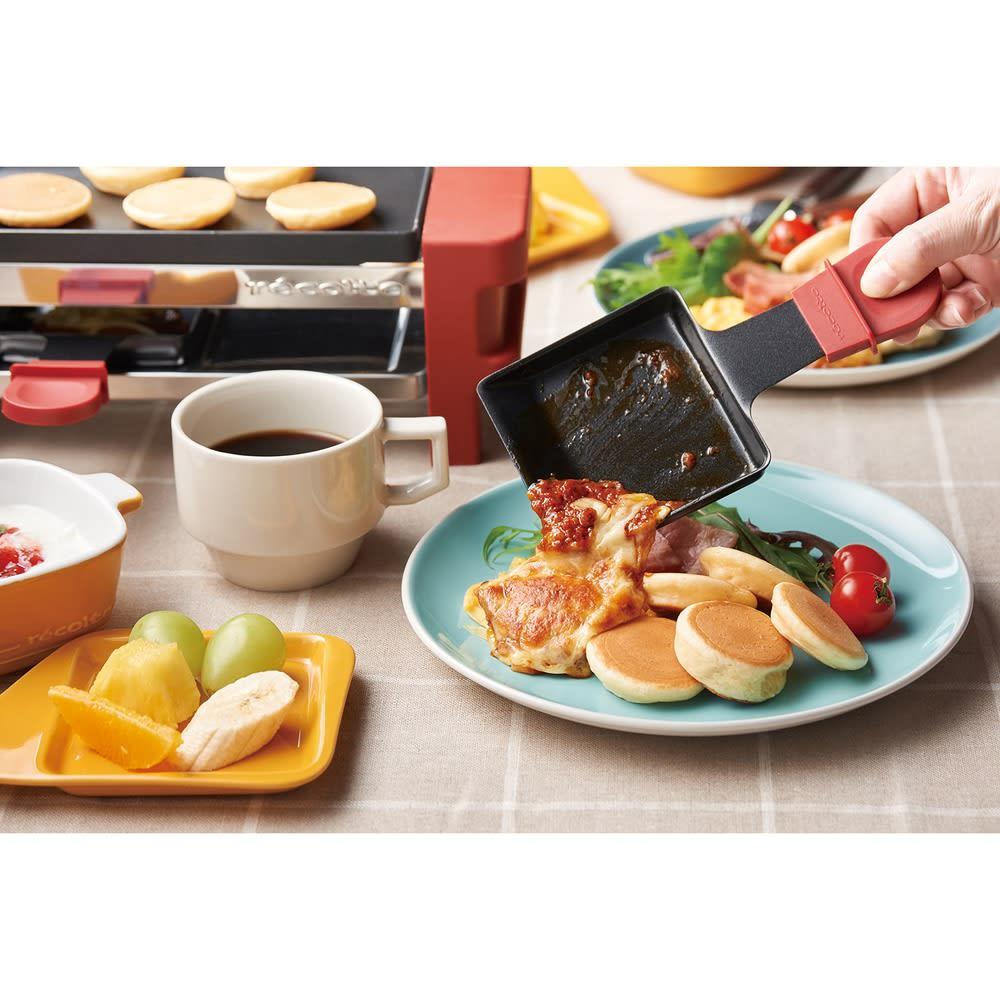 recolte(レコルト)/ ラクレット&フォンデュメーカーメルト アイデア次第でメニューが広がる、便利な取っ手付きのミニパン。