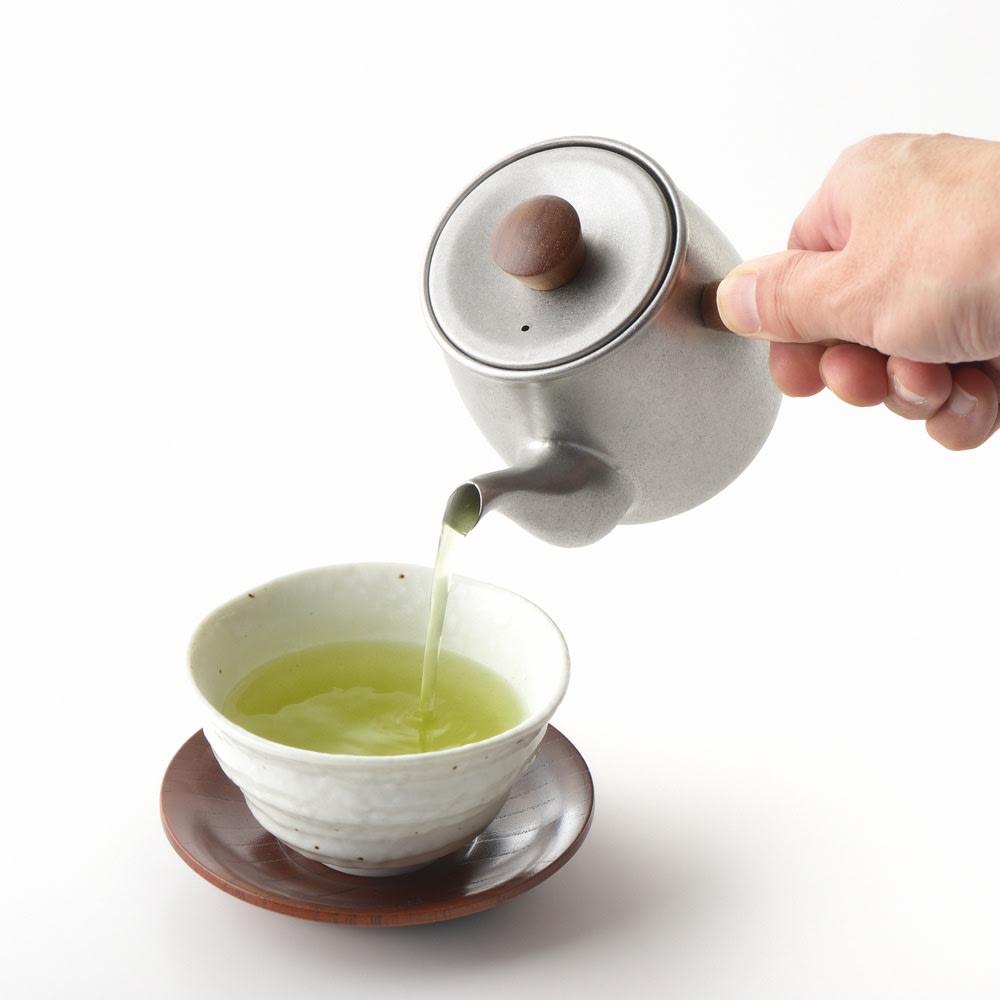 ミヤコ ステンレス製急須 小 ステンレス製の茶こし付き。