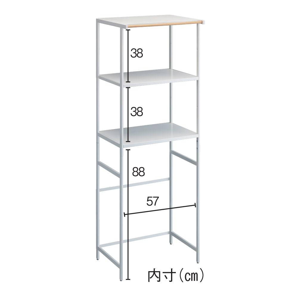 Tower/タワー キッチンラックシリーズ ゴミ箱・冷蔵庫上ラック H57803