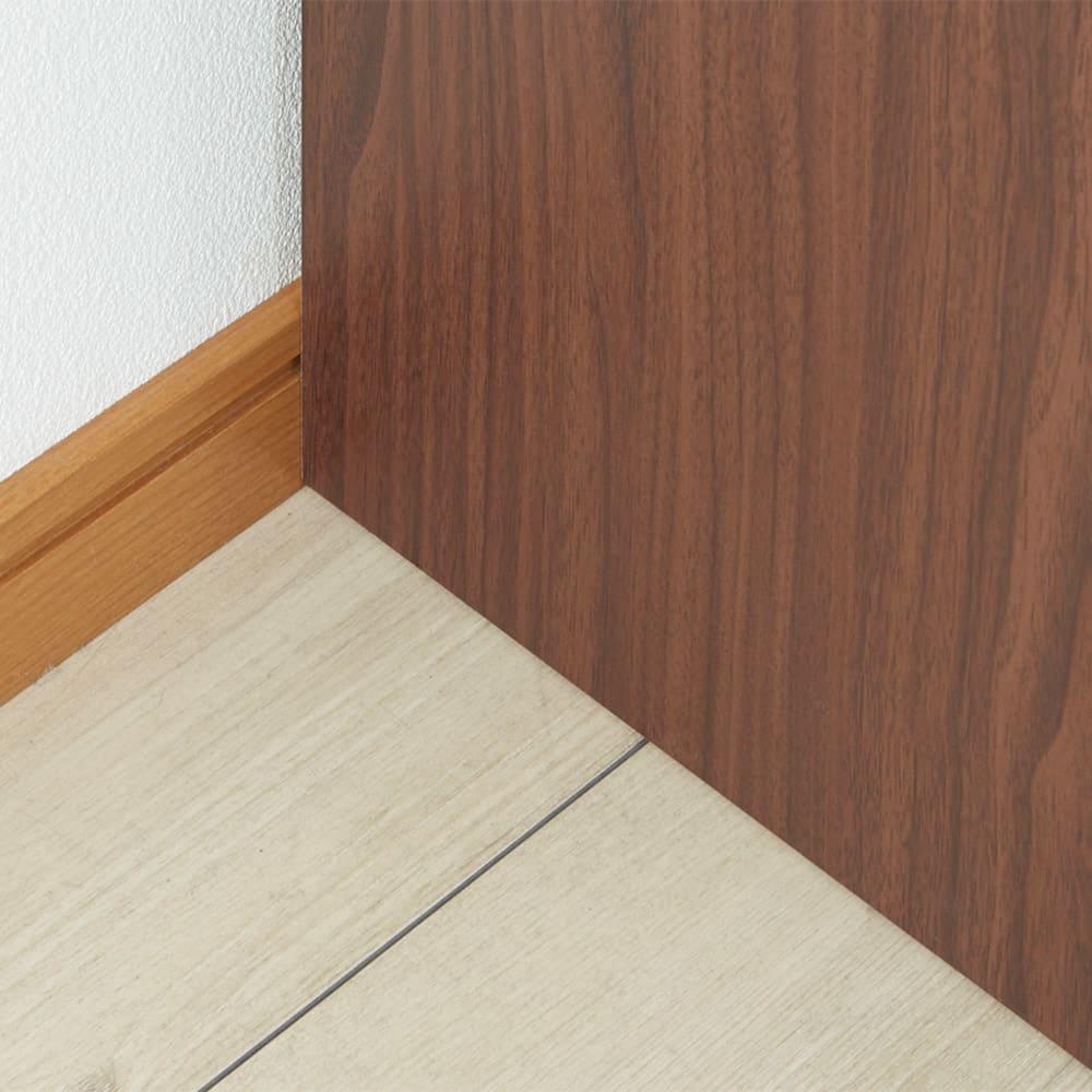 Gulf/ガルフ ダイニングカウンター下収納庫 幅90奥行36.5cm 【背面スペース】壁に天板をつけても、コード用スペースを確保。