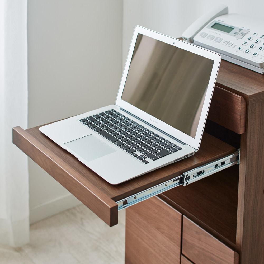 Sabio/サビオ リビング家電収納 キャビネット 幅44cm ノートPCやキーボードはスライド棚に。