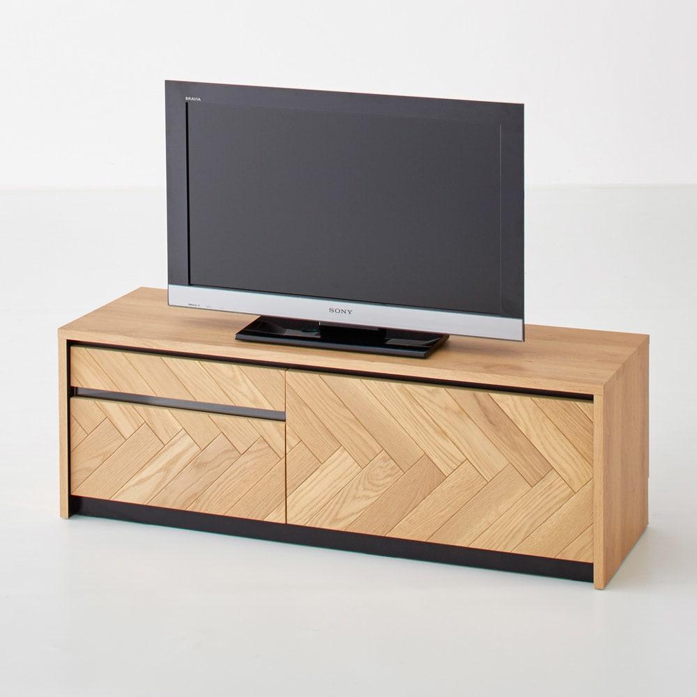 Adour/アドゥール ヘリンボーンシリーズ テレビ台 幅120.5cm テレビは32インチ