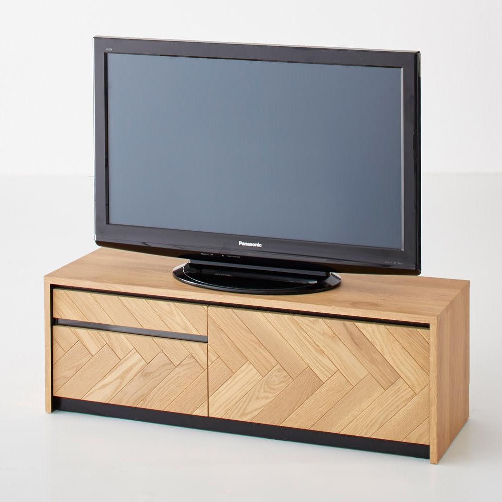 Adour/アドゥール ヘリンボーンシリーズ テレビ台 幅120.5cm テレビは42インチ
