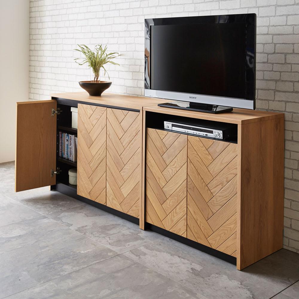 Adour/アドゥール ヘリンボーンシリーズ ハイタイプテレビ台 幅69cm コーディネート例