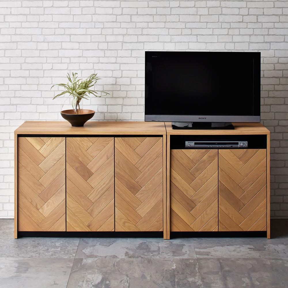 Adour/アドゥール ヘリンボーンシリーズ ハイタイプテレビ台 幅69cm お届けする商品はハイタイプテレビ台です。
