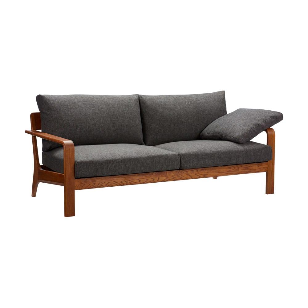 a tempo/アテンポ オーク天然木 木製フレームソファ 2.5人掛け・幅177cm H60510