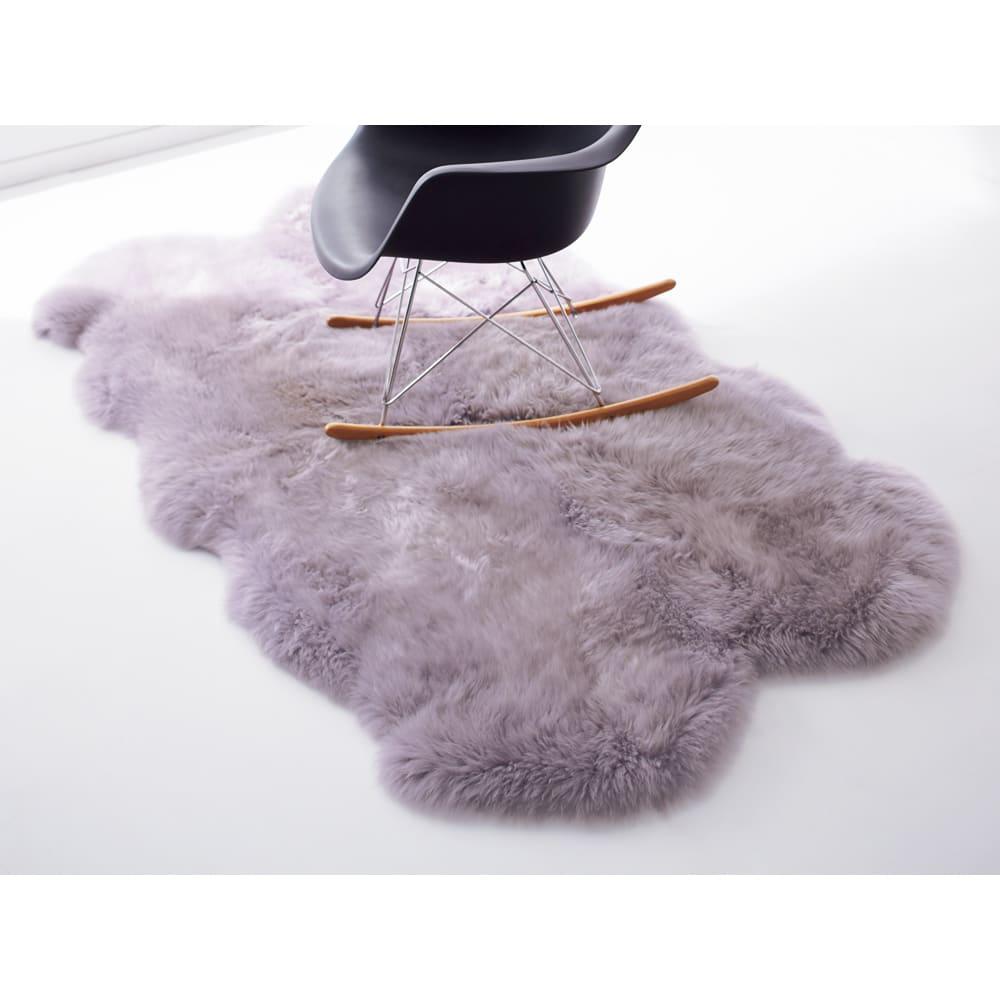 日本製 洗える長毛ハイグレードMouton(ムートン) シリーズ ラベンダー ※写真は4匹物です。